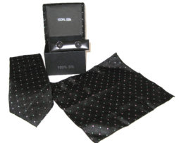 black red green dots tie gift set