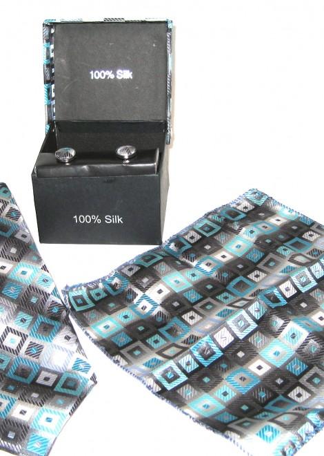 blue black diamonds tie gift set