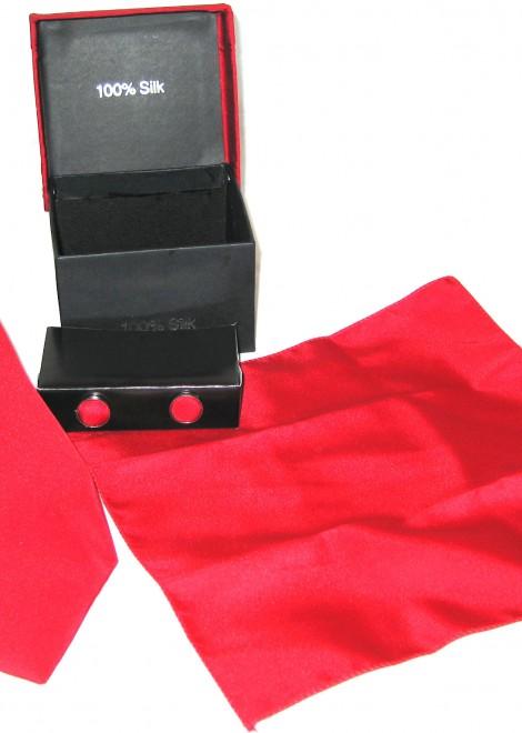 bright red tie gift set