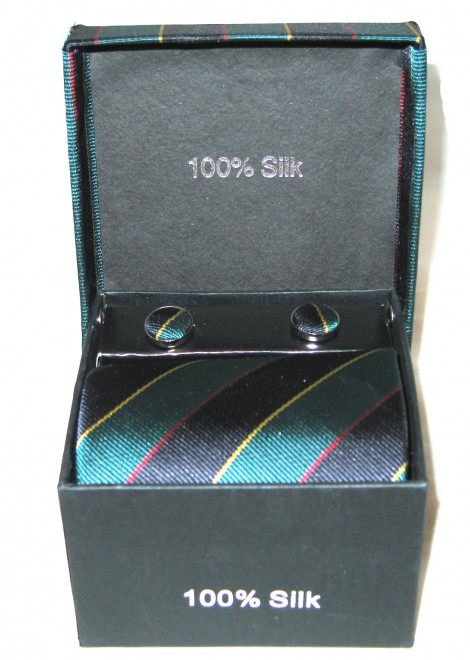 teal black stripe tie