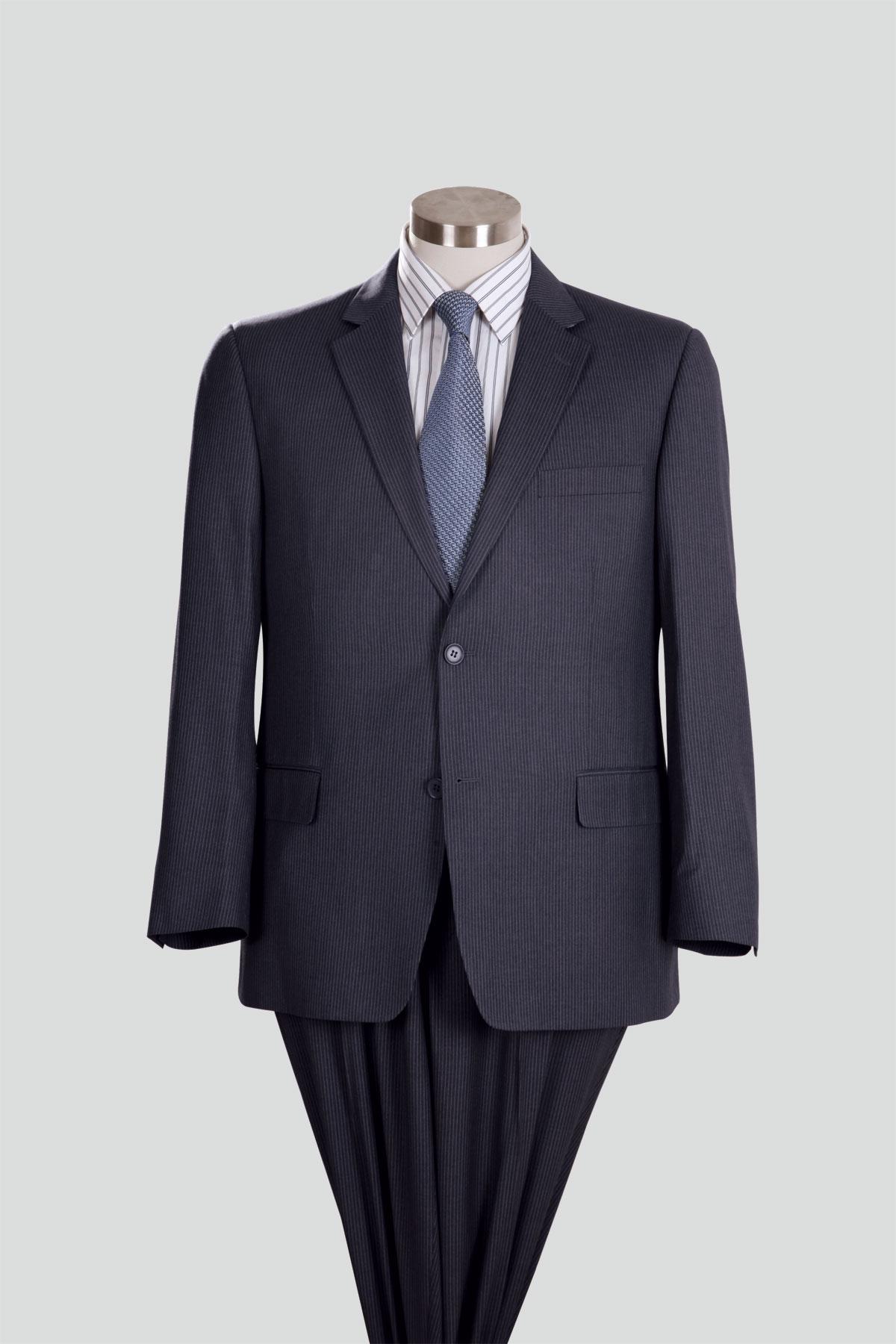 Renoir Men's Grey Pinstripe Blazer   Level 20 MenswearLevel 20 Menswear