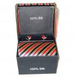 black red green stripe tie