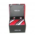 black red white plaid tie