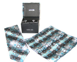 blue black diamonds tie gift set