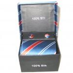 blue red white stripe tie