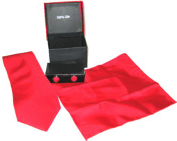 bright red tie gift set