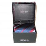 dark blue dark red stripe tie