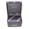 dark blue diamond red stripe tie