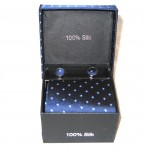 dark blue light blue diamond tie
