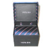 dark blue red white stripe tie