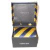 gold blue stripe tie