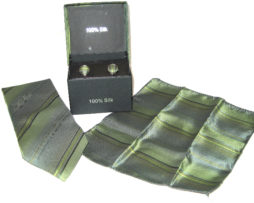 green gray tie gift set