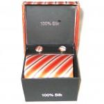 orange brown stripe tie