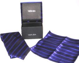 purple stripe tie gift set