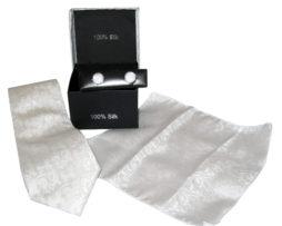 white paisley tie gift set