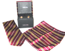 wine gold tie gift set
