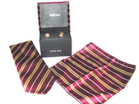 wine gold tie gift set