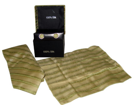 yellow green tie gift set
