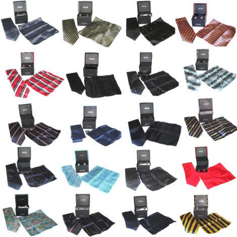 5x Tie, Hanky, Cuff Link Sets